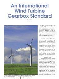 An International Wind Turbine Gearbox Standard - Gear Technology ...