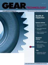 Download the July 2010 Issue in PDF format - Gear Technology ...