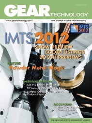 Download the August 2012 Issue in PDF format - Gear Technology ...
