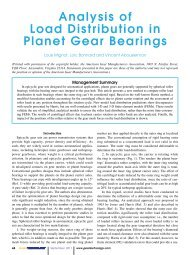 Analysis of Load Distribution in Planet Gear Bearings