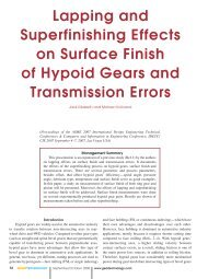 Lapping and Superfinishing Effects on Surface Finish of Hypoid ...