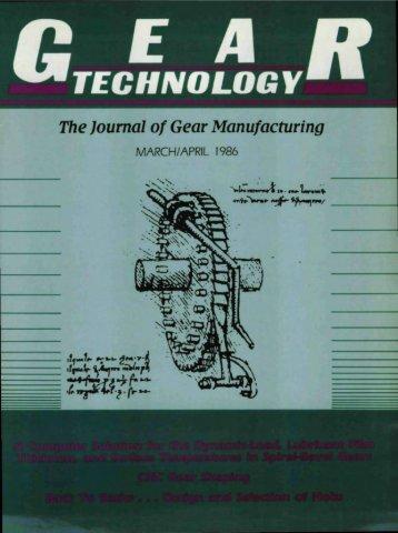 Download PDF - Gear Technology magazine