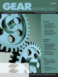 Download the July 2008 Issue in PDF format - Gear Technology ...
