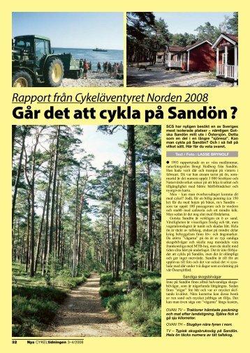 Går det att cykla på Sandön ?