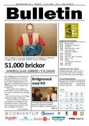 Bulletin 6 torsdag - Förbundet Svensk Bridge