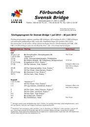 30 juni 2013 - Förbundet Svensk Bridge