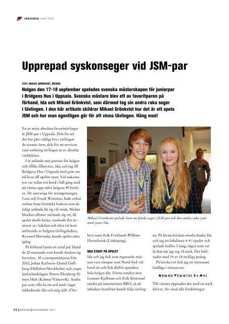 Sid 19-40 - Förbundet Svensk Bridge