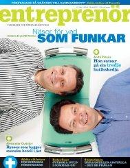 Entreprenör nr 5 2008 - Svenskt Näringsliv