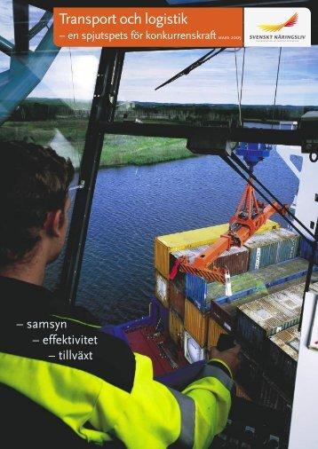 Transport och logistik - Svenskt Näringsliv