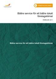 Bättre service för ett bättre lokalt företagsklimat - Svenskt Näringsliv