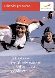 Fickfakta om svensk internationell handel - Svenskt Näringsliv