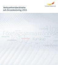 Verksamhetsberättelse och Årsredovisning 2011.pdf - Svenskt ...