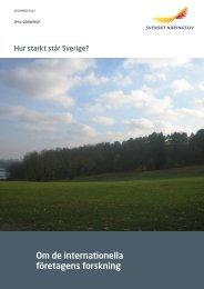 Hur starkt står Sverige? - Svenskt Näringsliv