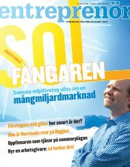 Entreprenör nr 2 2008 - Svenskt Näringsliv