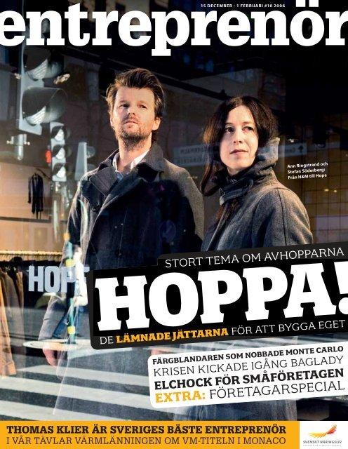 Entreprenör nr 10 2006 - Svenskt Näringsliv