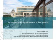 Interna.onal Compe..veness of Tax Systems