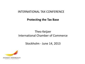 Theo Keijzer, International Chamber of Commerce. Protecting the ...