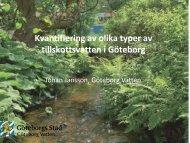 Källor för tillskottsvatten - Svenskt Vatten