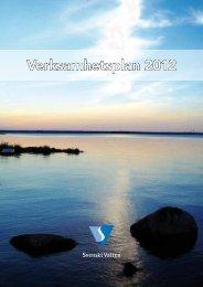 Verksamhetsplan 2012 - Svenskt Vatten