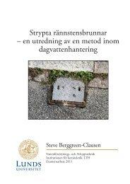 Strypta rännstensbrunnar – en utredning av en ... - Svenskt Vatten