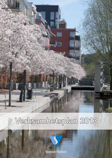 Verksamhetsplan 2013 - Svenskt Vatten