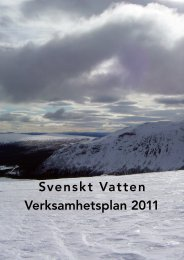Svenskt Vatten Verksamhetsplan 2011