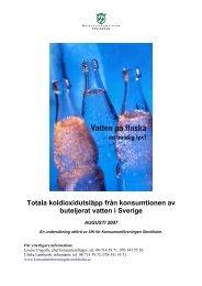 Totala koldioxidutsläpp från konsumtionen av ... - Svenskt Vatten