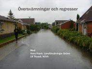 Översvämningar och regresser - Svenskt Vatten