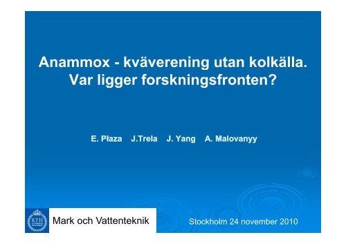 Anammox - Svenskt Vatten