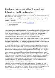 Distribueret temperatur måling til opsporing af ... - Svenskt Vatten