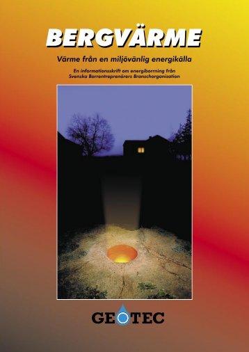 Infomation om bergvärme -GEOTEC - Svenskt Vatten