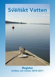 Artikelregister 2010-2011.pdf - Svenskt Vatten