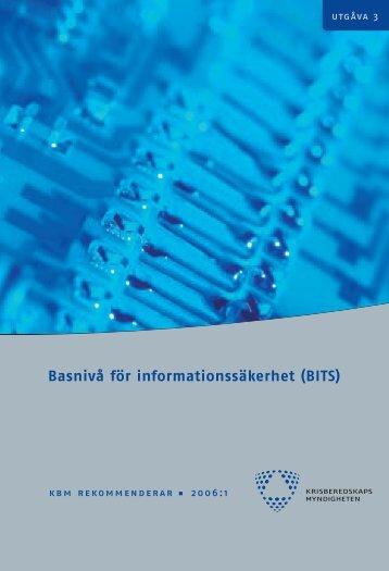 Basnivå för informationssäkerhet (BITS) - Svenskt Vatten
