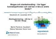 Biogas och slambehandling – Var ligger kkfthdki lä ... - Svenskt Vatten