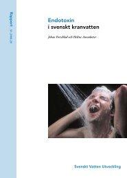 Endotoxin i svenskt kranvatten - Svenskt Vatten