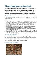 timmerlagring och skogsbruk i vattenskyddsområde - Svenskt Vatten