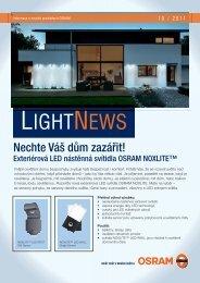Exteriérová LED nástěnná svítidla OSRAM NOXLITE
