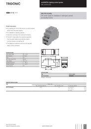 luxCONTROL lighting control system DALI control units DALI PS2 ...