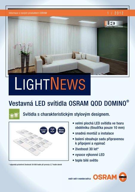 LightNews 01/2012 - Vestavná LED svítidla OSRAM QOD DOMINO