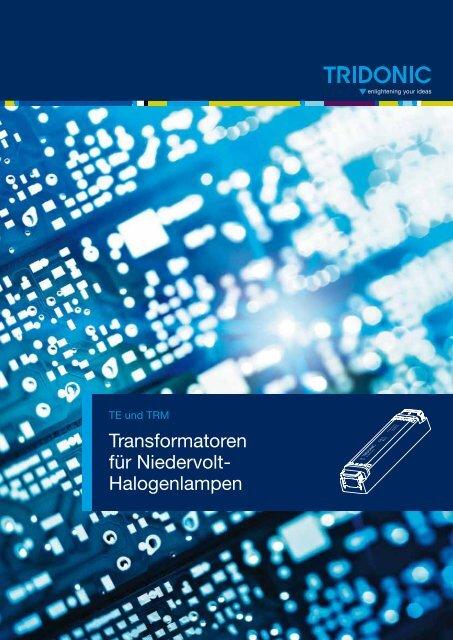 Transformatoren für Niedervolt- Halogenlampen - Tridonic