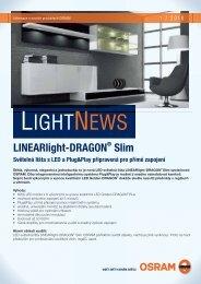 LightNews 01/2010 - Světelná lišta LINEARlight-DRAGON ... - Osram