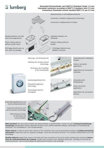 Duomodul-Steckverbinder nach RAST-2,5-Standard, Raster 2,5 mm ...