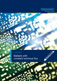 Ballasts with constant luminous flux
