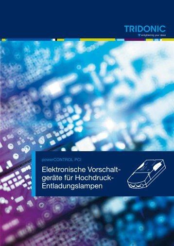 Elektronische Vorschalt- geräte für Hochdruck- Entladungslampen