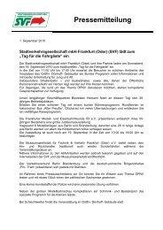 Pressemitteilung - bei der Stadtverkehrsgesellschaft mbH Frankfurt ...