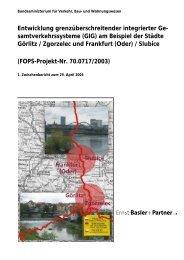 Entwicklung grenzüberschreitender integrierter Ge - bei der ...