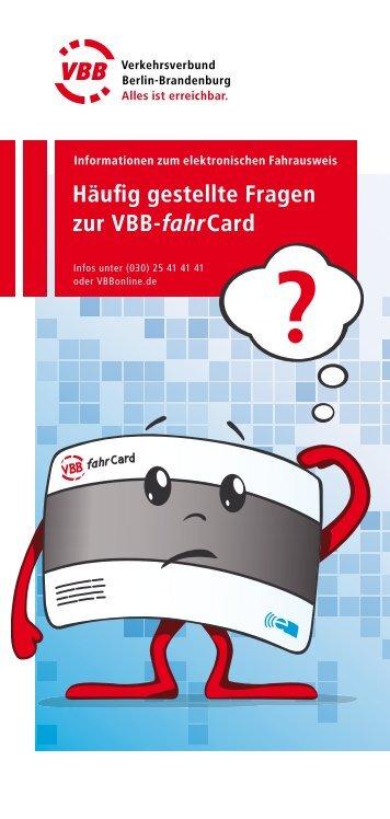 Häufig gestellte Fragen zur VBB-fahrCard - bei der ...
