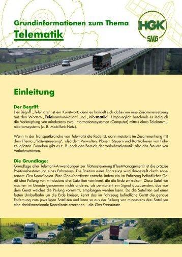 Grundinformation zum Thema Telematik - SVG Koblenz