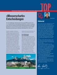 Messerscharfe Entscheidungen (SVGG Top 11/2013)