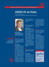 IGEHO im Visier (SVGG TOP 03/2005)